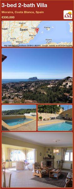 3-bed 2-bath Villa in Moraira, Costa Blanca, Spain ►€330,000 #PropertyForSaleInSpain