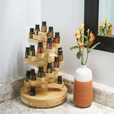 Find all the must-have solutions right here with our collection of essential oil storage products. From boxes to trays, we have it all and at a great price! Essential Oil Holder, Essential Oil Storage, Essential Oil Bottles, Doterra Essential Oils, Essential Oil Diffuser, Essential Oil Blends, Young Living Oils, Young Living Essential Oils, Massage Room