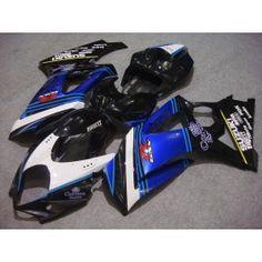 Suzuki GSX-R 1000 2007-2008 K7 Injection ABS Fairing - Corona - Black/Blue   $659.00