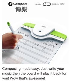 Composing made easy. Just write your music then the board will play it back for you! I don't actually compose music but Wow! Gadgets And Gizmos, Tech Gadgets, Office Gadgets, Take My Money, Cool Technology, Technology Gadgets, Computer Technology, Music Composers, Cool Inventions