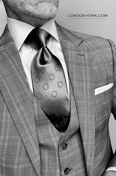 Black And White Style, Black Tie, Tall Guys, Tall Men, Les Brown, Suit Shirts, Savile Row, 3 Piece Suits, Dress For Success