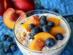 Peach blueberry chia pudding
