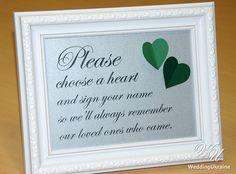 Please choise a heart and sign your name  by WeddingUkraine