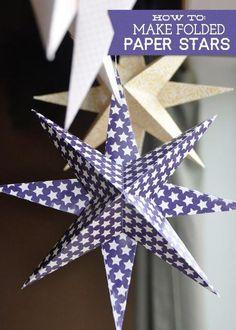 Как сделать бумажные звездочки – инструкция - Новогодние поделки - Рукоделие и творчество - Рукоделие - Страна рукоделия