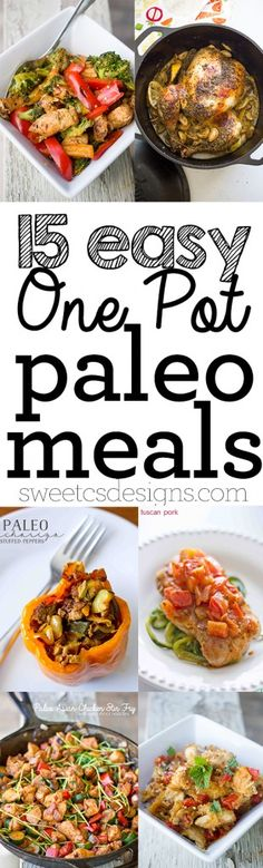 15 easy one pot paleo meals- delicious, healthy gluten free low carb meals that will keep you satisfied! 15 easy one pot paleo meals- delicious, healthy gluten free low carb meals that will keep you satisfied! Low Carb Recipes, Whole Food Recipes, Diet Recipes, Cooking Recipes, Healthy Recipes, Paleo Food, Easy Paleo Meals, Healthy One Pot Meals, Diet Meals