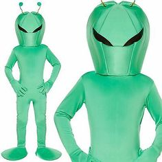 #Alien fancy dress costume - green #alien martian costume out of #space,  View more on the LINK: 	http://www.zeppy.io/product/gb/2/231651107315/