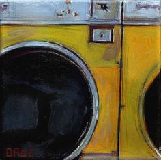 Laundry art.  Love the texture and color.