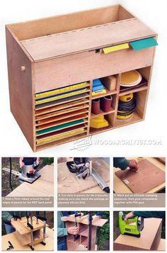 Sandpaper Cabinet, Storage Woodworking Plan, Shop Project Plan ...