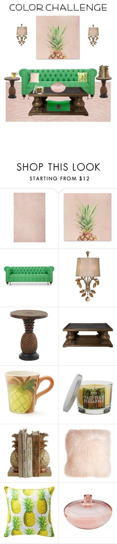 """""""#greenandblush"""" by classyinfluence ❤ liked on Polyvore featuring interior, interiors, interior design, home, home decor, interior decorating, Kate Spade, Joybird, Home Decorators Collection and Tommy Bahama"""