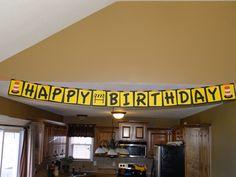 Construction birthday banner. 3rd Birthday, Birthday Party Themes, Birthday Ideas, Theme Ideas, Party Ideas, Construction Birthday, First Birthdays, Banner, Holidays