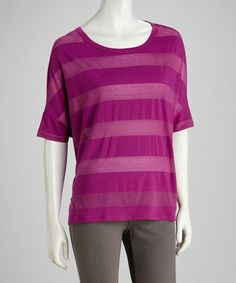 Take a look at this Purple Stripe Top by Seven7 on #zulily today! http://www.zulily.com/invite/kcrim608