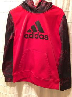 178fe20d6fe Boys Adidas Hoodie - Large - Red   Black  fashion  clothing  shoes   accessories  kidsclothingshoesaccs  boysclothingsizes4up