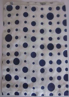 aff188e0555 NAVY BLUE POLKA DOT - PAPER CANDY SWEET FAVOUR BUFFET CAKE BAGS - 7x9 INCHES