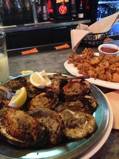 Char-Grilled Oysters are always a good idea! Texas Restaurant, Grilled Oysters, Delicious Dishes, Grilling, Restaurants, Food And Drink, Pork, Cooking Recipes, Beef