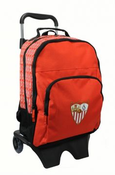 Sevilla FC Mochila Grande c/ruedas - Mochila grande con carro del Sevilla FC, Medidas: 32x16x42cm