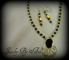 Unique and classy earring & necklace set designed by Ann Ray. $10.00 + S&H. PayPal. contact info: annray253@bellsouth.net & 229-460-0051
