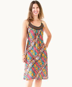 Angel Falls Embroidered Sundress