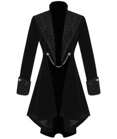 Pentagramme Womens Gothic Jacket Coat Black Velvet Steampunk VTG Tailcoat in Clothes, Shoes & Accessories, Women's Clothing, Coats & Jackets | eBay