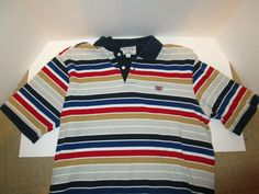 bcb10f18 The original Phat Farm Large Striped Polo: Great Condition #fashion # clothing #shoes
