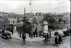Lata 1930-1939 , Północna i wschodnia ściana Starego Rynku. - 1935 Lodz, Poland