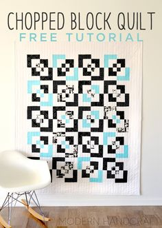 Make a Themed Quilt using the Chopped Block Pattern! Free Step by Step Instructions and Video Tutorial!