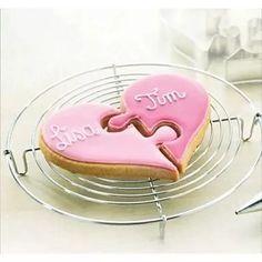 cortador para galletas corazón unido, bodas, amor, amigos