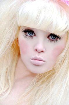 Pretty doll make-up Beauty Makeup, Eye Makeup, Hair Makeup, Makeup Contouring, Fantasy Make Up, Maquillaje Halloween, Make Up Art, Special Effects Makeup, Living Dolls
