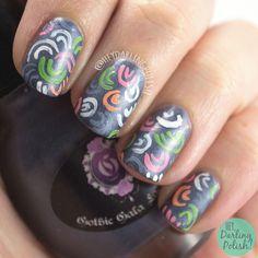 #nails, #nailart, #nailpolish, #pattern, #heydarlingpolish, #cute, #gothicgalalacquers,