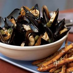 Mussels Ravigote from Cooking Light