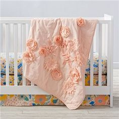 Floral Rush Crib Bedding and Quilt | The Land of Nod