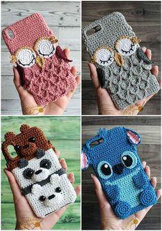 Crochet Phone Cover, Crochet Case, Crochet Diy, Love Crochet, Crochet Gifts, Crochet Phone Case Pattern Free, Crochet Ideas, Crochet Patterns Amigurumi, Crochet Dolls