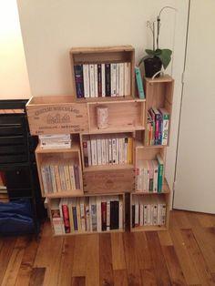 Caisse de vin bibliothèque