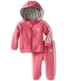 adidas Originals Kids Infant Hooded Flock Tracksuit (Infant/Toddler)