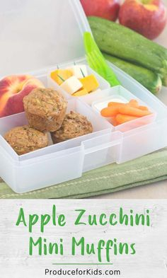 Kids will love opening their lunchboxes and seeing these yummy apple zucchini mini muffins, packed with healthy ingredients. Make a batch for easy lunchboxes all week!