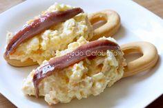 Pinchos de ensaladilla rusa con anchoa