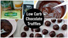 Keto Truffles - Low Carb Chocolate Truffles - Easy Homemade Ketogenic Diet Friendly Low Carb Chocolate Truffles - Fat Bombs - Recipe & Video Tutorial.