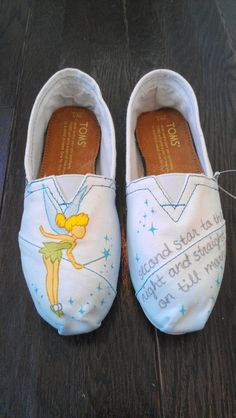 Tinkerbell Custom TOMS (Disney Peter Pan). $100.00, via Etsy.