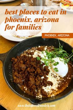 Traveling to Phoenix, Arizona with the family? Check out this detailed Phoenix Food Guide on the best restaurants to eat at with kids during your next AZ vacation including breakfast, brunch, lunch, dinner, and dessert recommendations! www.thetattooedtravelers.com // Phoenix Arizona Food // Phoenix Food Restaurant // Best Food In Phoenix Arizona // Phoenix With Kids // Where To Eat In Phoenix AZ // #phoenix #arizona Phoenix With Kids, Insomnia Cookies, Chicken And Waffles, Phoenix Arizona, Best Places To Eat, Food Hacks, Restaurants, Brunch, Traveling