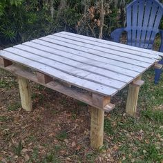 Re used Pallet Table in Home Garden