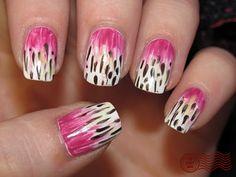 Peruvian Lily nail art by Daily Nail.