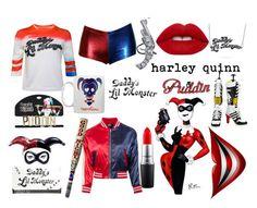 """harleeeeeeeey quinnn"" by bertastoneez on Polyvore featuring moda, Lime Crime y MAC Cosmetics"