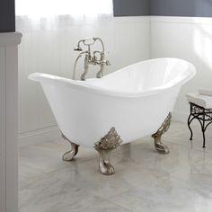 Cast iron slipper tub
