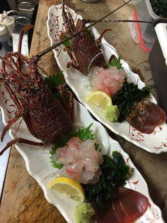伊勢海老刺身 Lobster Sashimi..Mmmmm....