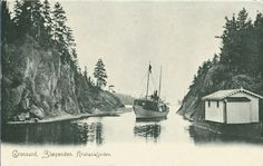 Akershus fylke Asker kommune Grønsund Slependen Nesøya utg Solveig Lunds Forlag ca 1900