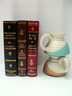 Pair of Assorted Earthenware Coffee Mugs by NoveltyandThings, $27.00