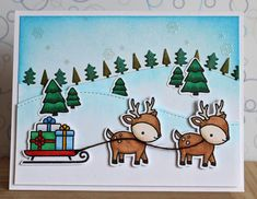 "There's a Card for That: Happy Holidays Series | ft. Lawn Fawn ""Toboggan To..."