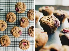 mini roasted strawberry almond meal muffins . sprouted kitchen