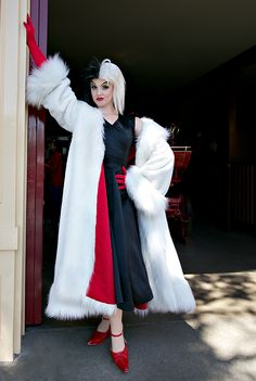that 39 s one heck of a cruella de vil diy halloween costume cant wait to create my own for next. Black Bedroom Furniture Sets. Home Design Ideas