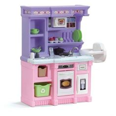 Kids Pretend Kitchen Bakers Play Girls 30 Pc Cooking Set Toddlers Playing Toys #Step2