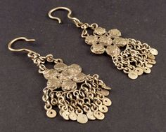 Indian tribal ethnic earrings from Himachal Pradesh, old tribal silver, ethnic tribal jewelry, indian earrings